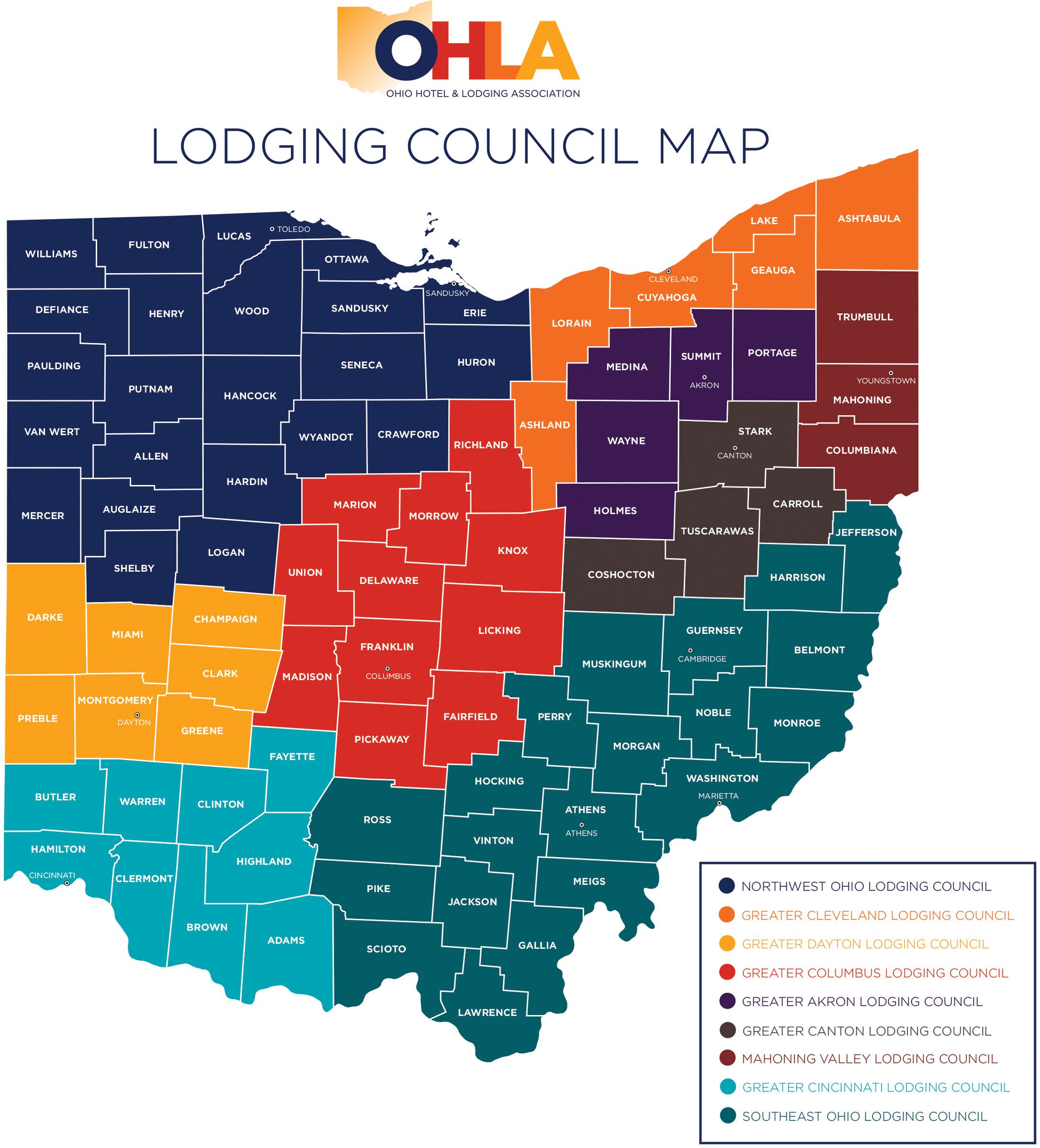 New OHLA Lodging Council Map